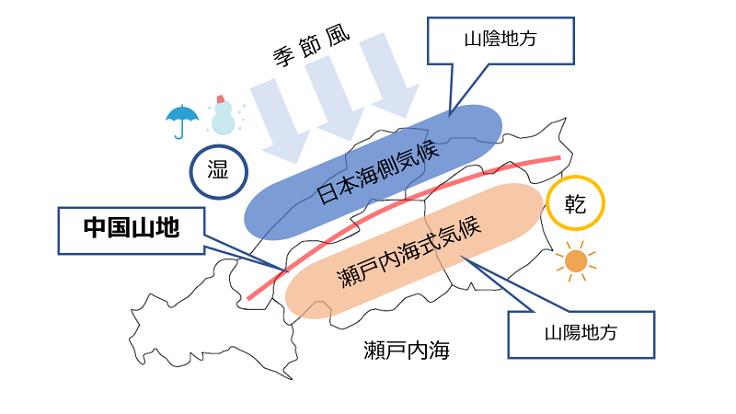 「中国山地 地図」の画像検索結果